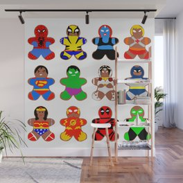 Superhero Gingerbread Man Wall Mural