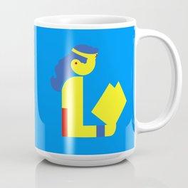 Wonder Lady Reading Coffee Mug