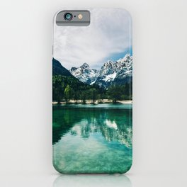 Reflective Lake Clear Mountains iPhone Case