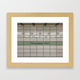 Strausberger Platz - Berlin Framed Art Print