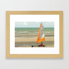 char à voile, le Touquet  Framed Art Print