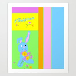 Scout with Flowers: #Hoppiness Art Print
