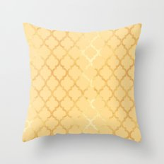 Moroccan Gold & Yellow Throw Pillow