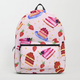 Strawberry cakes Backpack