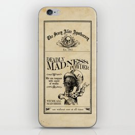 Scary Alice Apothecary - Mad Hatter iPhone Skin