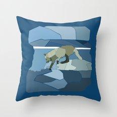 Artic Wolf Throw Pillow