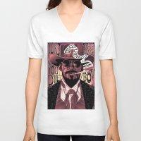 django V-neck T-shirts featuring Django Poster by eos vector