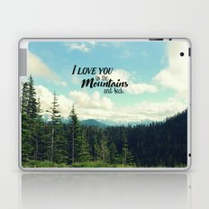 To the Mountains and Back Laptop & iPad Skin
