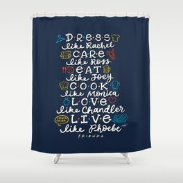 FRIENDS TV Characters Shower Curtain