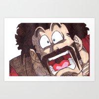 satan Art Prints featuring Mr. Satan by DeMoose Art
