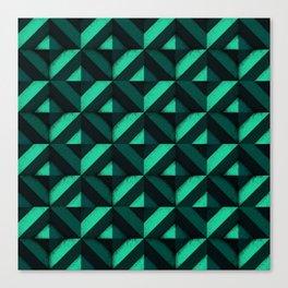 Concrete wall - Emerald green Canvas Print