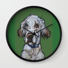 Ollie the English Setter Wall Clock