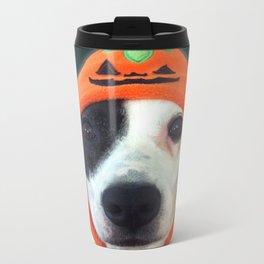 Pumpkin Dog Metal Travel Mug