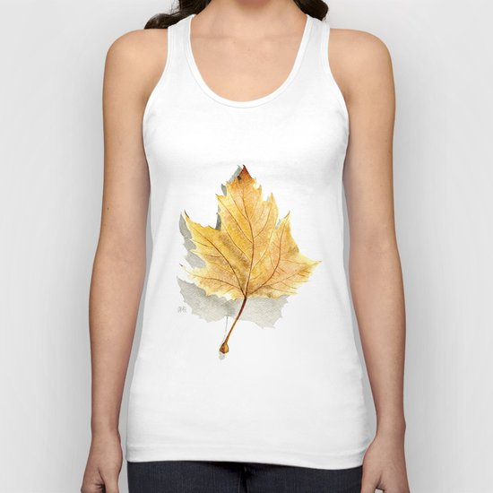 Autumn leaf  Unisex Tank Top