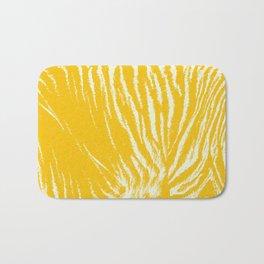 Tiger print Yellow Bath Mat