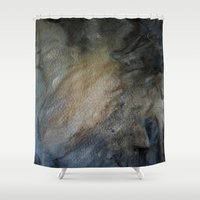 postcard Shower Curtains featuring postcard oracle by Imagery by dianna