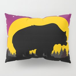 Bear Stars Moon Pillow Sham