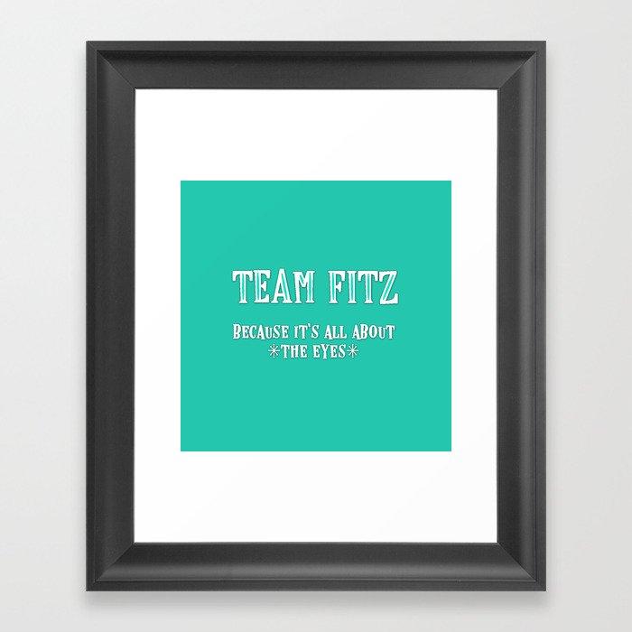 Team Fitz Gerahmter Kunstdruck