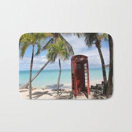 Red public Telephone Booth on Antigua Bath Mat