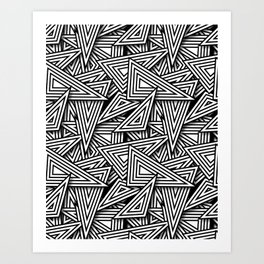 Triangle Funk Art Print