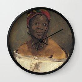 Edouard Manet - La Négresse Wall Clock