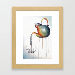 Rainbow Tea Framed Art Print