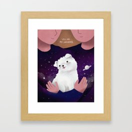You are my universe Framed Art Print