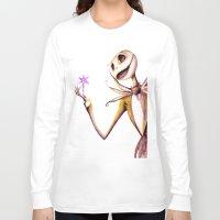jack skellington Long Sleeve T-shirts featuring Jack Skellington by Leanne Engel