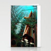 steam punk Stationery Cards featuring Steam Train Punk by Goodson Productions