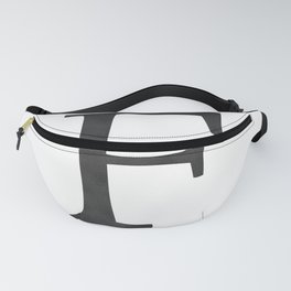 Letter F Initial Monogram Black and White Fanny Pack