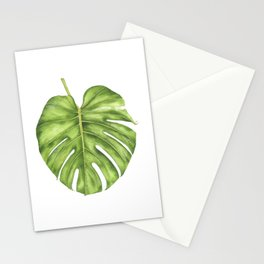 Cheese Plant Leaf Stationery Cards