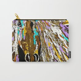 Horse Abstract Oil Painting Carry-All Pouch