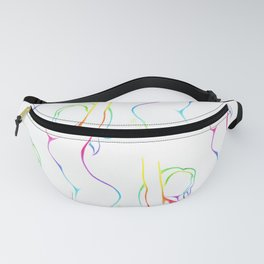 Female figure line art Fanny Pack