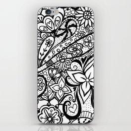 Zentangle Art Print iPhone Skin