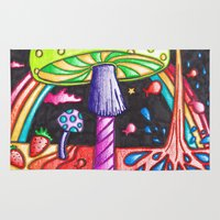 psychedelic Area & Throw Rugs featuring Psychedelic by kellyzebra