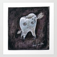 tooth Art Prints featuring Tooth by Jennifer Lewis