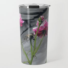 Three Pink Roses Travel Mug