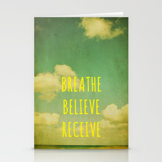 Breathe Believe Receive Stationery Cards