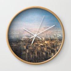 Paris Multiple Exposure  Wall Clock