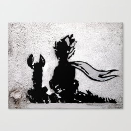 The little prince and the fox - stencil for the LIFE CURRENT WALL series Canvas Print