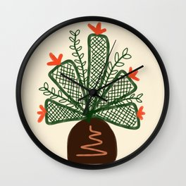 Mosquito pot plant drawing Wall Clock