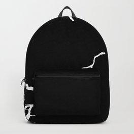 Diagonal Destroyed Dark Backpack