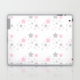 Pink Grey Gray Stars Laptop & iPad Skin