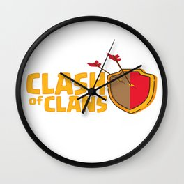 Clash Of Clans Wall Clock
