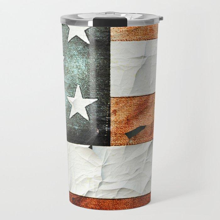 Painted Stars And Stripes Travel Mug