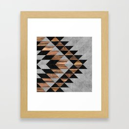 Urban Tribal Pattern No.10 - Aztec - Concrete and Wood Framed Art Print