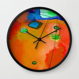 Magical Thinking No. 2G by Kathy Morton Stanion Wall Clock