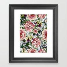 Snakes And Flowers Framed Art Print