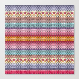 knitting pattern Canvas Print