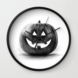 Halloween graffiti Wall Clock